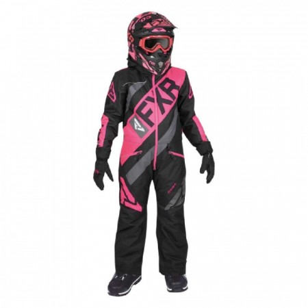 FXR CX Fôret Monosuit Youth Sort/Fuchsia