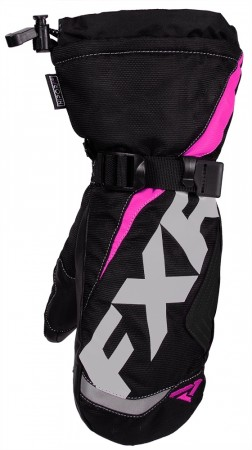 Fxr Youth Helix Race Mitt Black/fuchsia
