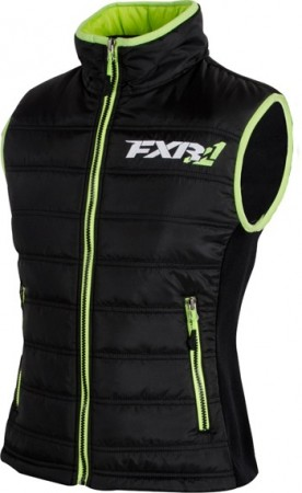 FXR Block Heater Vest Black/Lime Dame