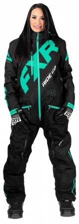 Fxr Cx Insulated Monosuit black/mint