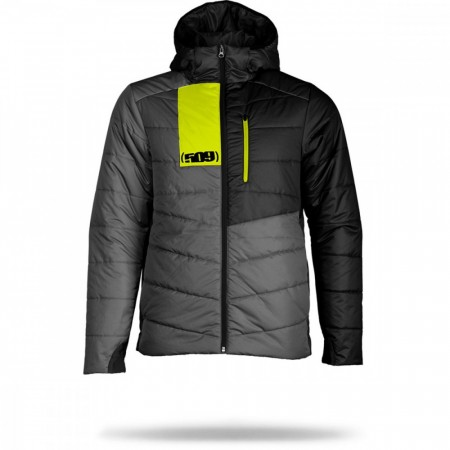 509 Syn Loft Insulated Hooded Jacket Gray Hi-vis