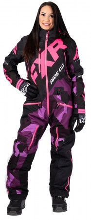 Fxr Cx Insulated Monosuit plum camo/black/elec pink